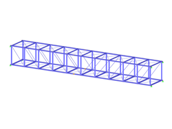 3D Truss Made of Steel