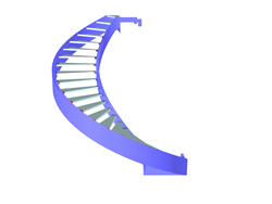 RFEM Model of the Staircase
