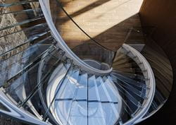 Top View of the Steel Spiral Staircase