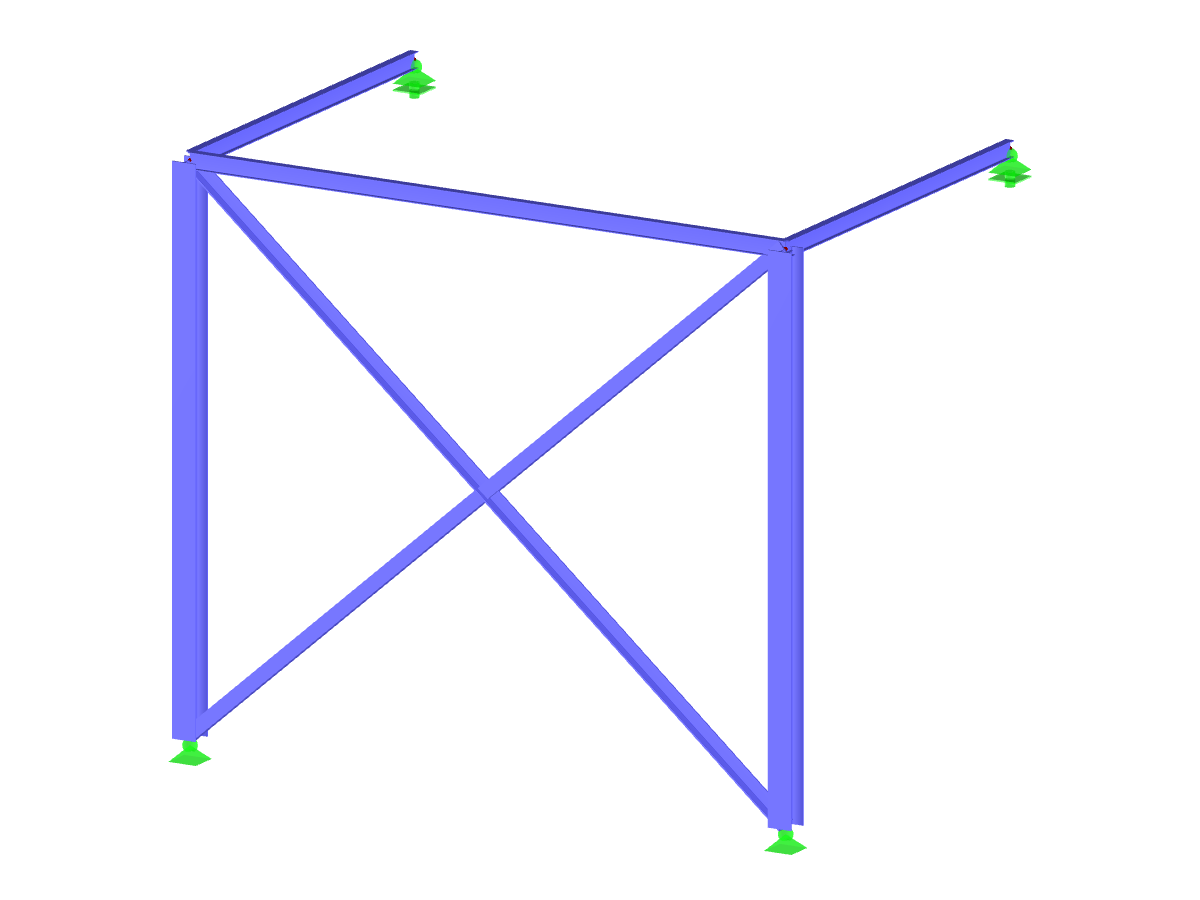 Frame with buckling members