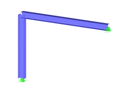 Frame with Foundation Considering Horizontal Friction