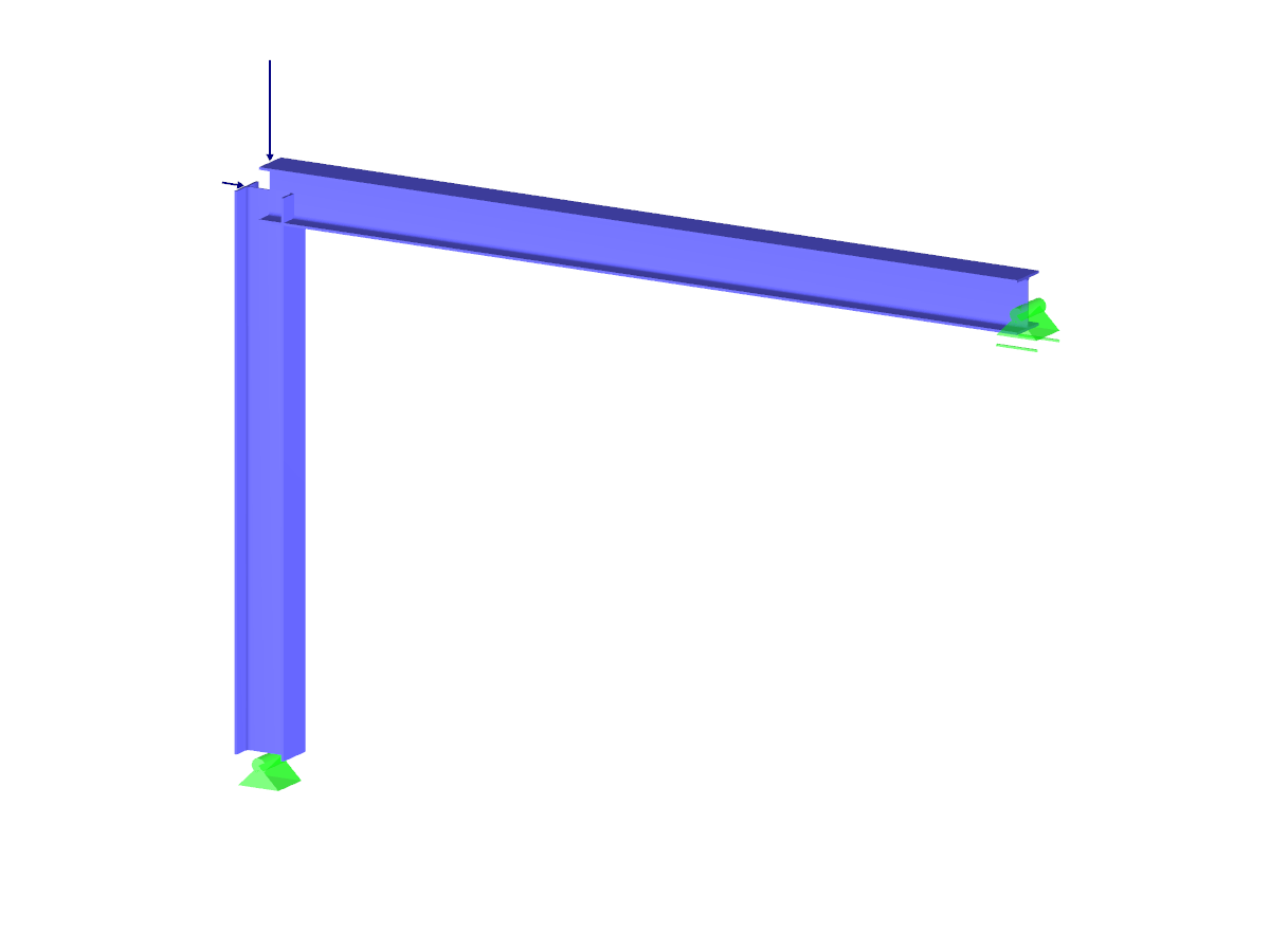 Frame with Foundation with Anchor Bolts