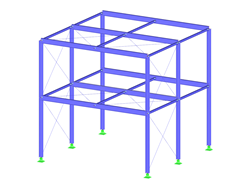 Steel Structure with Diagonal Stiffening
