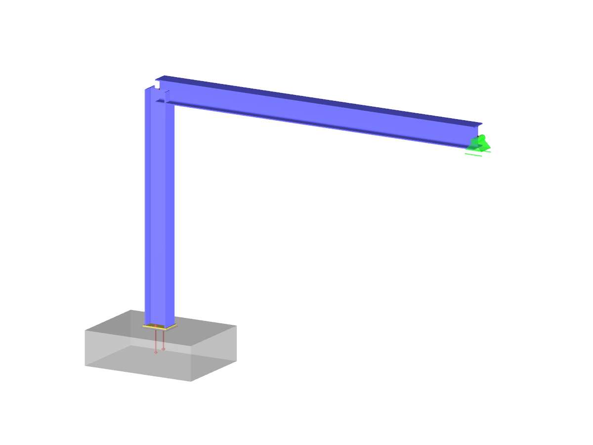Frame with eccentric base plate