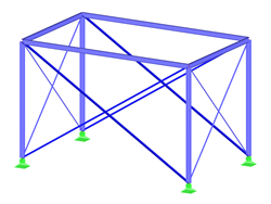 Steel Frame Structure with Tension Members