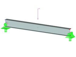 Beam with Lateral-Torsional Buckling According to ADM