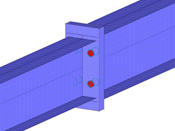 Rigid Beam Connection with Contact Solid