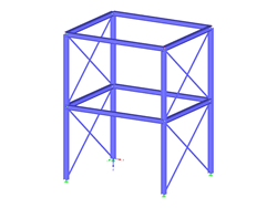 Steel structure with bracings