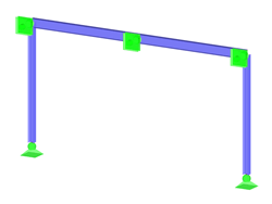 Symmetrical Two-Hinged Frame