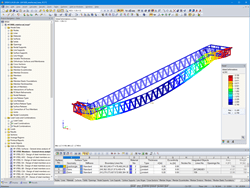 RFEM Truss Escalator Model with Deformations (© Giant KONE Elevator Co., Ltd.)