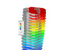 Visualized Mode Shape of High-Rise Building in RFEM