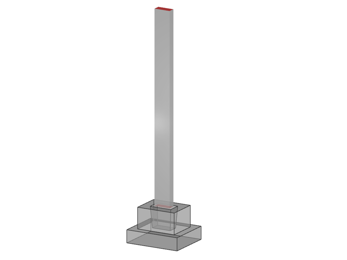 Concrete Column with Bucket Foundation