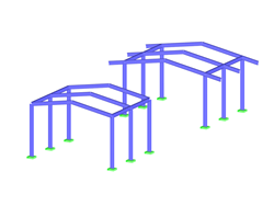 Steel Frame Structures With(-out) Roof Overhang