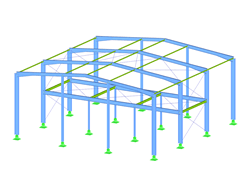 Steel Hall with Generated Bracings