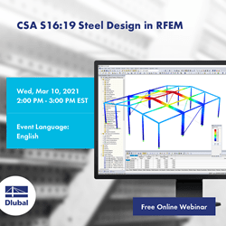 CSA S16: 19 Steel design in RFEM
