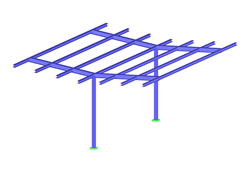 Self-Supporting Butterfly Roof Structure