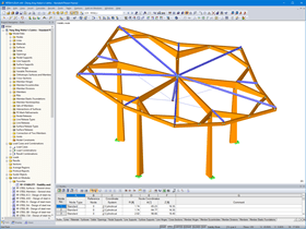 3D Model of Single Element in RFEM (© Jing Kong & Associates Consulting Structural Engineers Inc.)