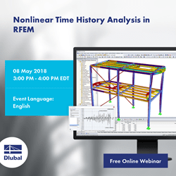 Nonlinear Time History Analysis in RFEM