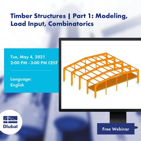 Timber structures | Part 1: Modeling, Load Input, Combinatorics