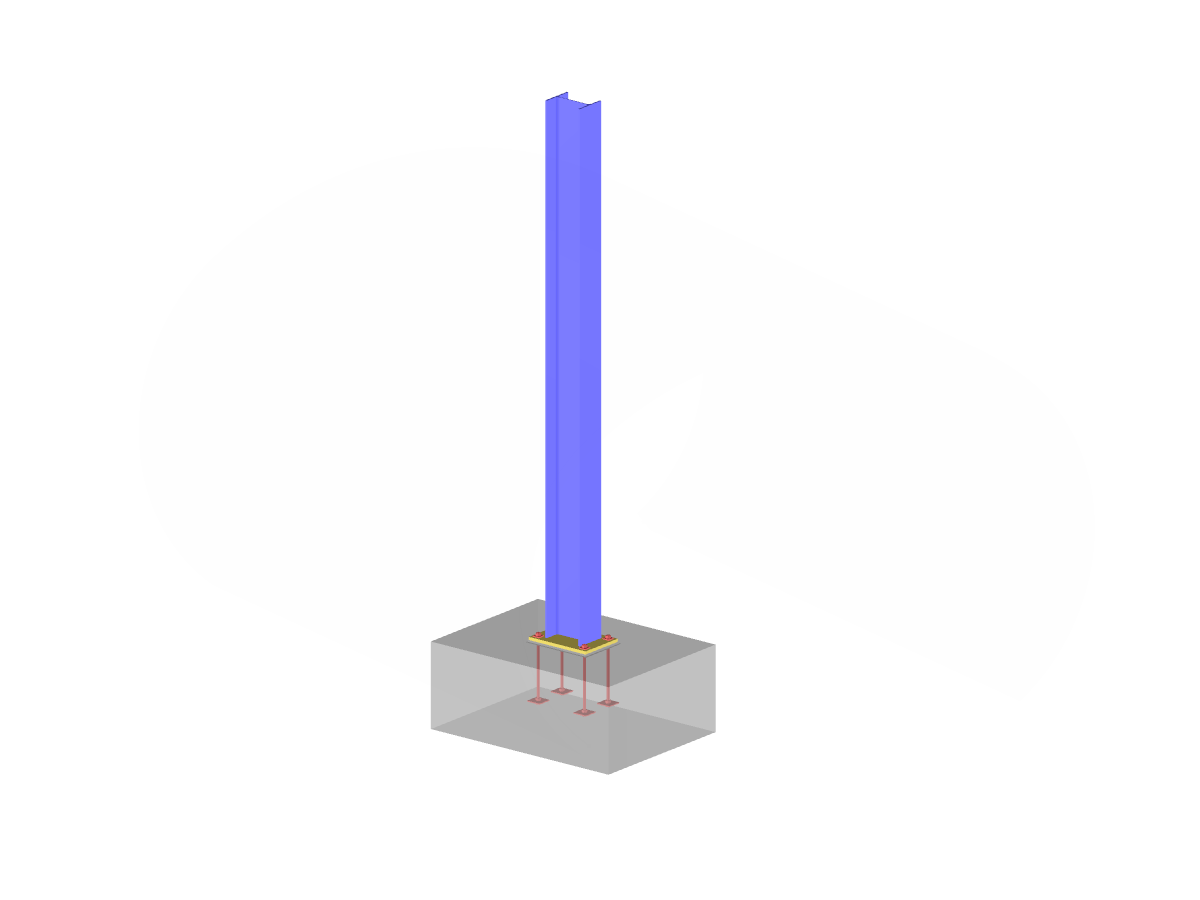 Steel Column with Concrete Foundation