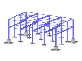 Steel Structure with Foundations