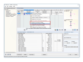Transfer of cross -sections to the main program RSTAB/RFEM