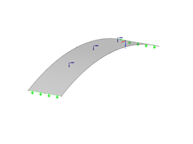 Curved Surface with Concentrated Loads