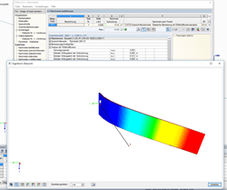 Stability design of a flat steel with RF-/STEEL EC3 warping torsion