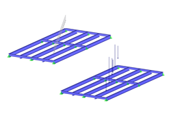 Steel Frame with Pipe Load