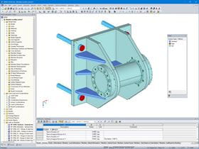 3D Trunnion Model with Solid Elements in RFEM (© AGICEA)