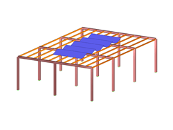 Steel Frame Structure with Photovoltaic System