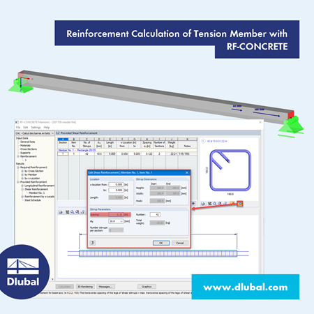 Reinforcement Calculation of Tension Member with RF-CONCRETE