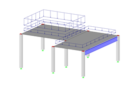 Reinforced Concrete Structure with Loads from Multilayer Composition