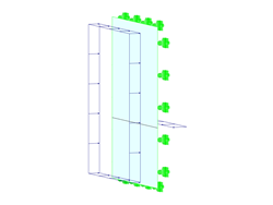 Insulating Glass Pane with Loading on Both Sides
