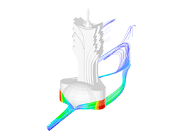Grand Lisboa Hotel in RWIND Siulation, Stromlinien
