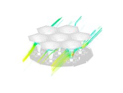 Hexagonal lattice structure