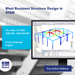 Explosion -proof structural engineering in RFEM