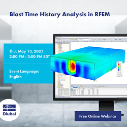 Blast Time History Analysis in RFEM