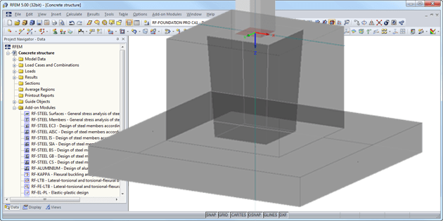 RF-/FOUNDATION Pro Add-on Module for RFEM/RSTAB
