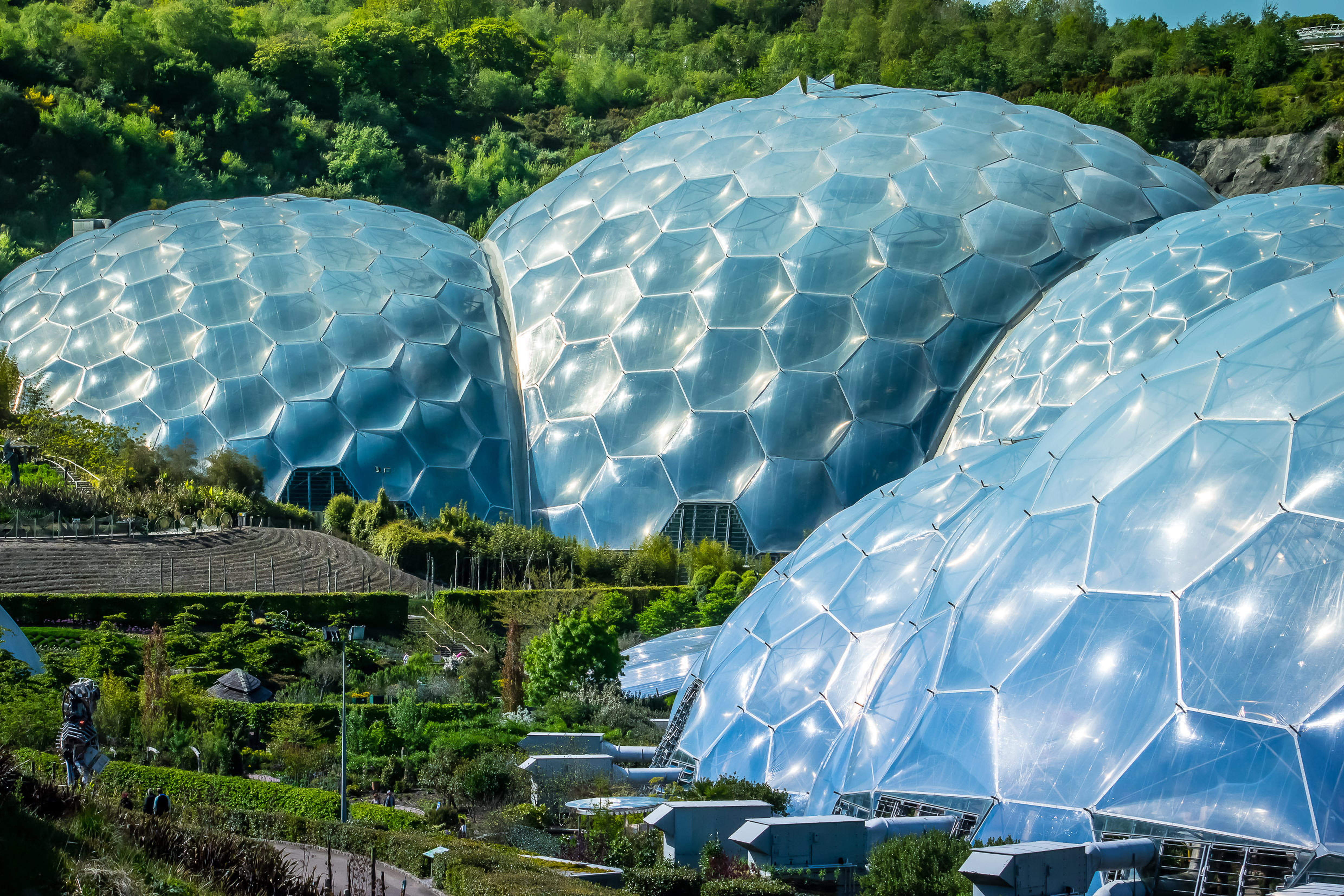 Rainforest Biome Of Eden Project In Cornwall UK