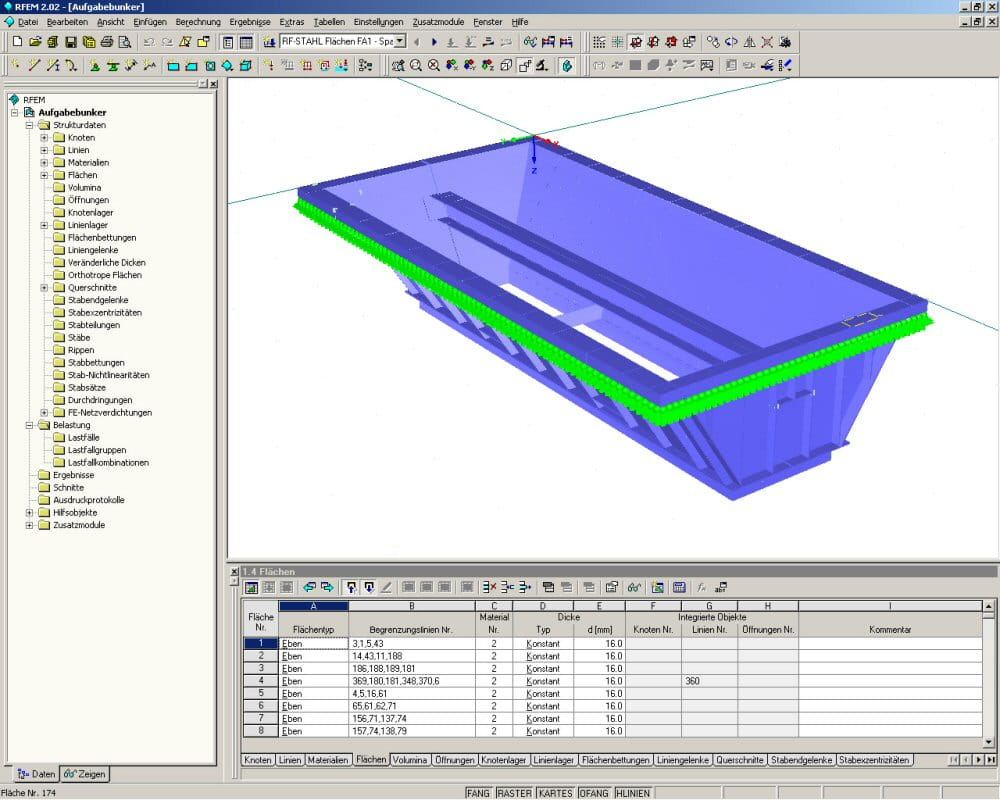 D model of feed hopper in RFEM (© IB Ehlenz)