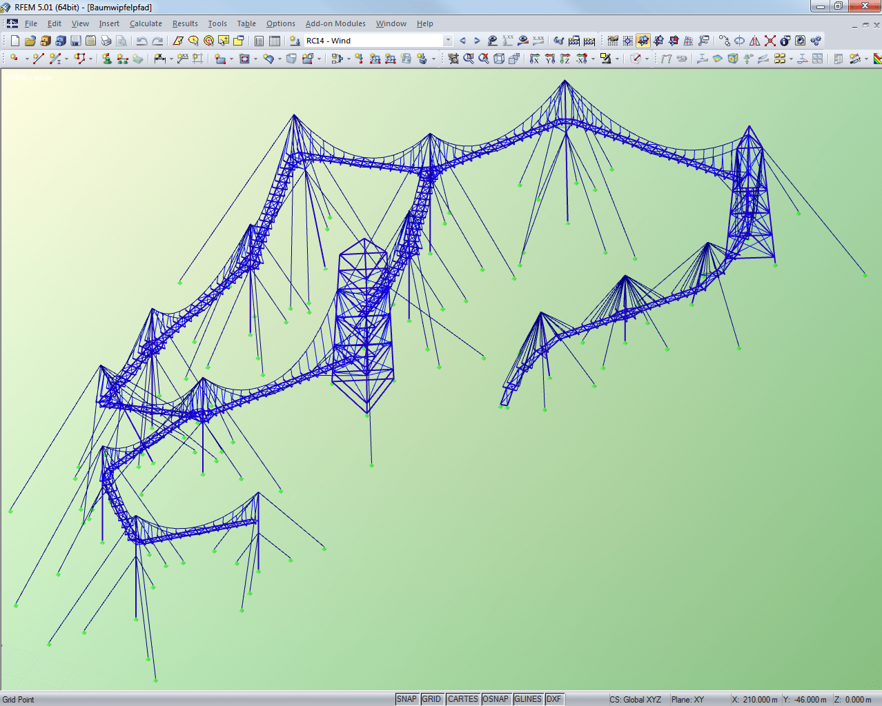 Entire structure displayed in RFEM (© Meyer+Schubart)