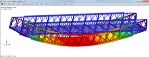 RFEM model of temporary bridge by Janson Bridging