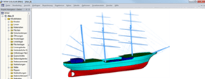 RFEM Model of Sailing Ship 'Alexander von Humboldt II'