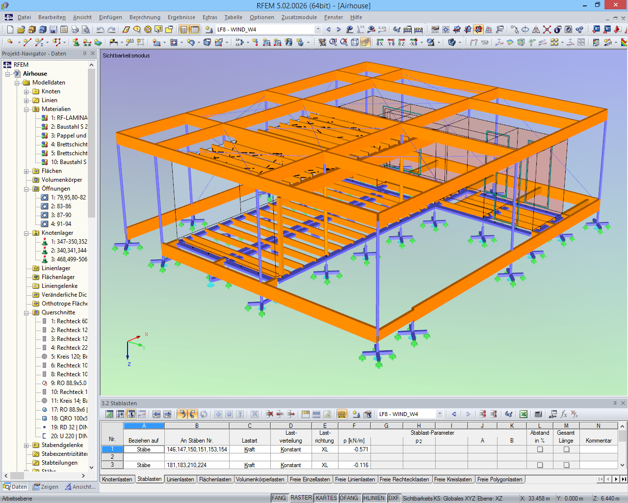 "Berechnungsmodell des ""AIR House"" in RFEM (© ČVUT)"