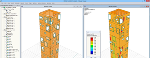 RFEM model of look-out tower