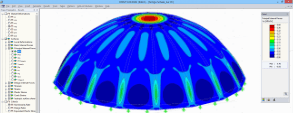 "RFEM Model of Concrete Shell Fabricated with ""Pneumatic Wedge Method"" in Vienna, Austria"