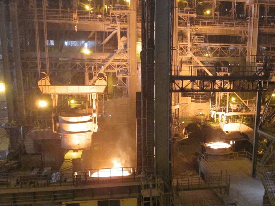 Continuous casting plant of JSW ISPAT steelworks in India (© SMS SIEMAG)