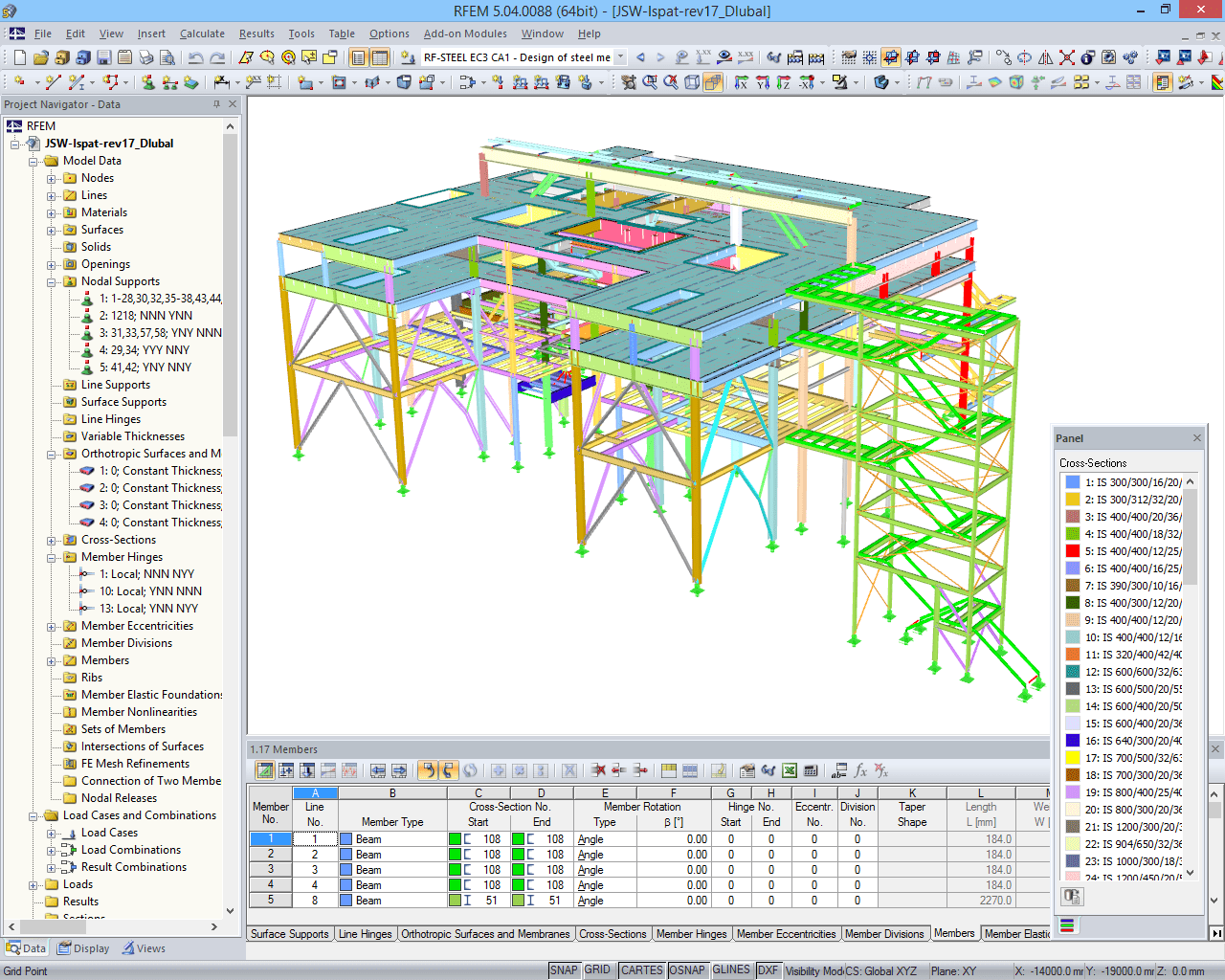 RFEM model of continuous casting plant with extension (© IB Mauss)