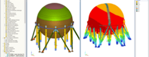 RFEM Model of Butadiene Storage Sphere in La Wantzenau, France (© Cedeti ingénierie)